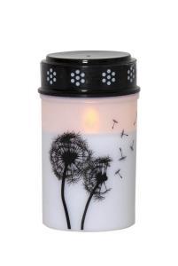 DANDELION LED-Gravljus 12cm Vit