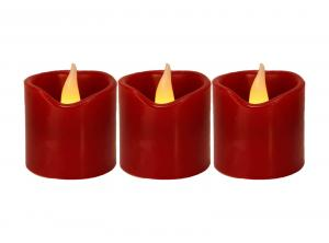 FLAME LED-Ljus 3-Pack 5,5cm Röd