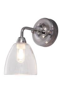 LAGO Vägglampa Bad 21cm Krom/Klar IP44