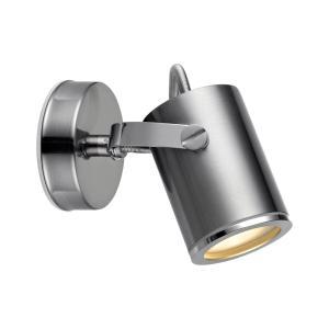 LUX Vägglampa 1L 8cm Stål IP44