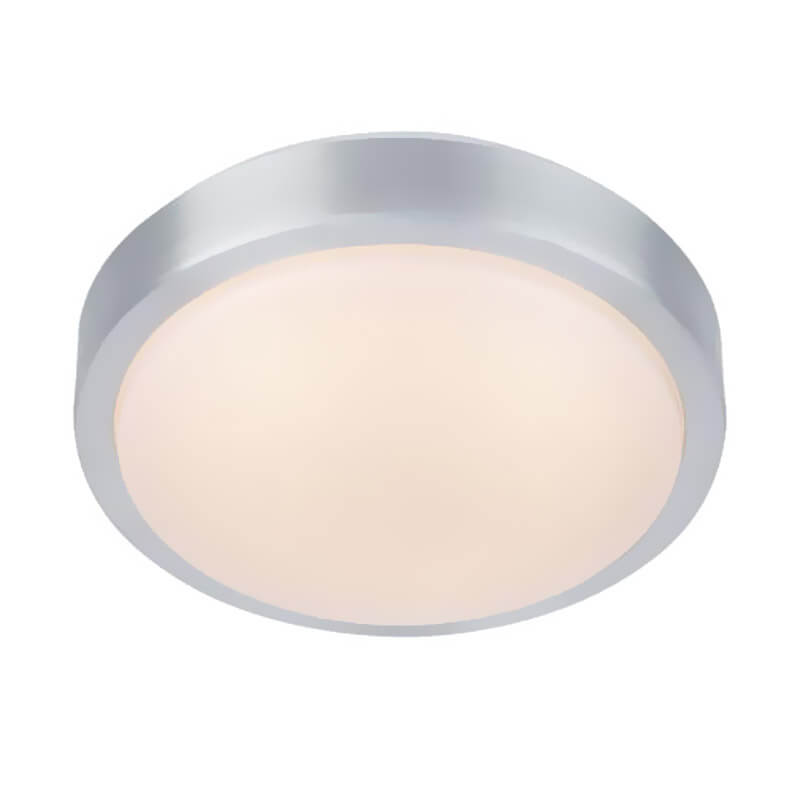 MOON Plafond 21cm LED Aluminium/Vit IP44
