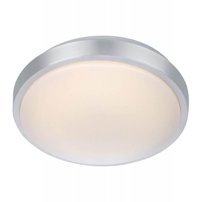 MOON Plafond 28cm LED Aluminium/Vit IP44