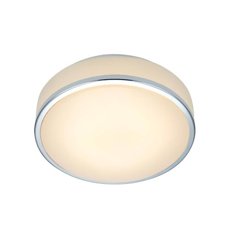 GLOBAL Plafond 21cm Krom/Vit
