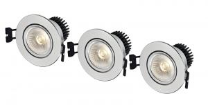 APOLLO Downlight 3-Set 8,6cm Aluminium