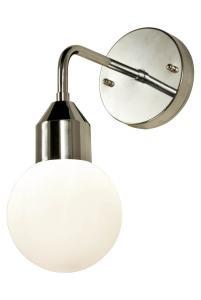 FLORENS Vägglampa Bad 32cm Krom/Opalvit IP44