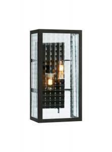 FULHAM Vägglampa 2L 15,5cm Svart IP44