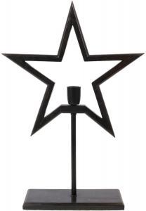 FARM STAR Stjärna på fot 65cm Svart