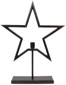 FARM STAR Stjärna på fot 80cm Svart