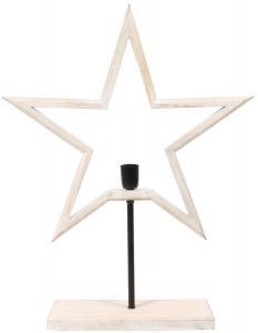 FARM STAR Stjärna på fot 80cm Vit