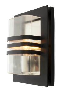 CAPO Vägglampa Ute 33cm Svart/Klar IP44
