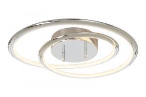 ARIES LED-Plafond Dimbar 46,5cm Krom/Klar