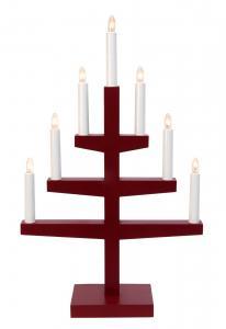 TRAPP Ljusstake 7L 54cm Röd