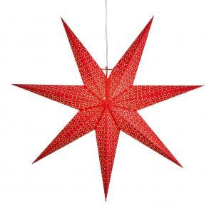 DOT Pappersstjärna 1m Röd