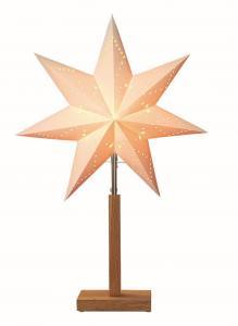 Karo Stjärna på fot 55cm Vit