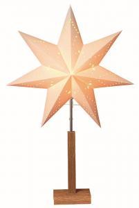 Karo Stjärna på fot 70cm Vit