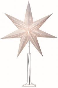 Huss Stjärna på fot 85cm Vit