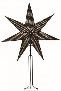 Huss Stjärna på fot 85cm Svart