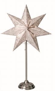 Antique Stjärna på fot Vit