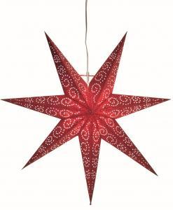 Antique Pappersstjärna 60cm Röd