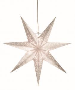 Antique Pappersstjärna 60cm Vit