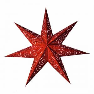Antique Lös Pappersstjärna 48cm Röd