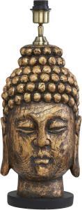 BUDDHA Lampfot 54cm Antikmässing
