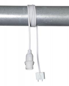 E14 BASIC DCL Sladdställ 6cm Vit