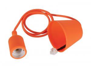 E27 Sladdställ Color Textil 1,2m Orange