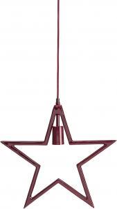 CARLA Hängande Stjärna 44cm Vinröd