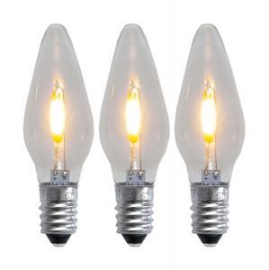E10 Reservlampa Universal LED 3-Pack 23-55V AC/DC Klar