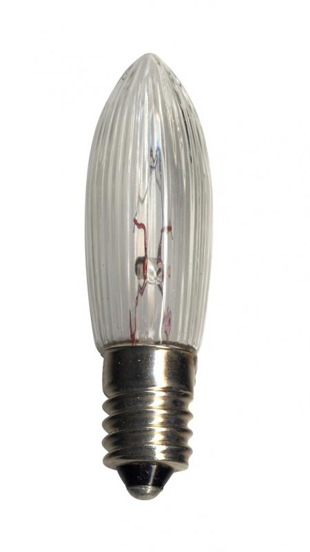 E10 Reservlampa 3-pack 24V Transparent