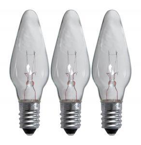 E10 Reservlampa Topplampa 3-Pack 55V Klar