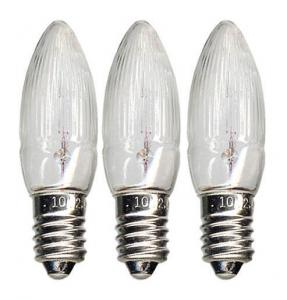 E10 Reservlampa Topplampa 3-Pack 10V Klar