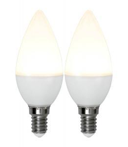 E14 2-Pack Kronljus Opal Basic 3W 3000K 250lm LED-Lampa