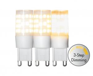 G9 Halo 3 Stegs Dimmer Normal 3.6W 2700k 360lm LED-Lampa