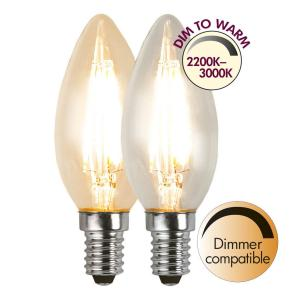 E14 Dim-To-Warm Kronljus 4W 3000 - 2200K 320lm LED-Lampa