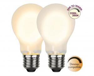 E27 Dim-To-Warm Normal 4W 3000 - 2200K 280lm LED-Lampa