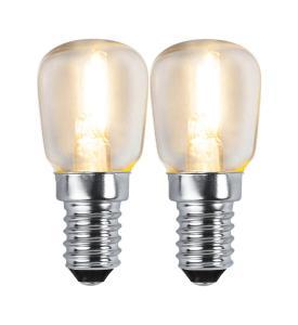 E14 Klar Päronlampa 2-Pack 1.2W 2700k 100lm LED-Lampa