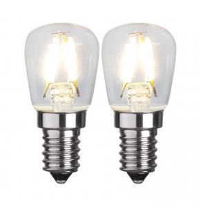 E14 2-pack Päron 1.3W 2700K 110lm LED-Lampa