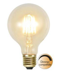 E27 SoftGlow Dimbar Glob80 1.3W 2100K 140lm LED-Lampa