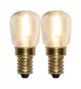 E14 SoftGlow Päronlampa 2-Pack 0.8W 2100k 65lm LED-Lampa