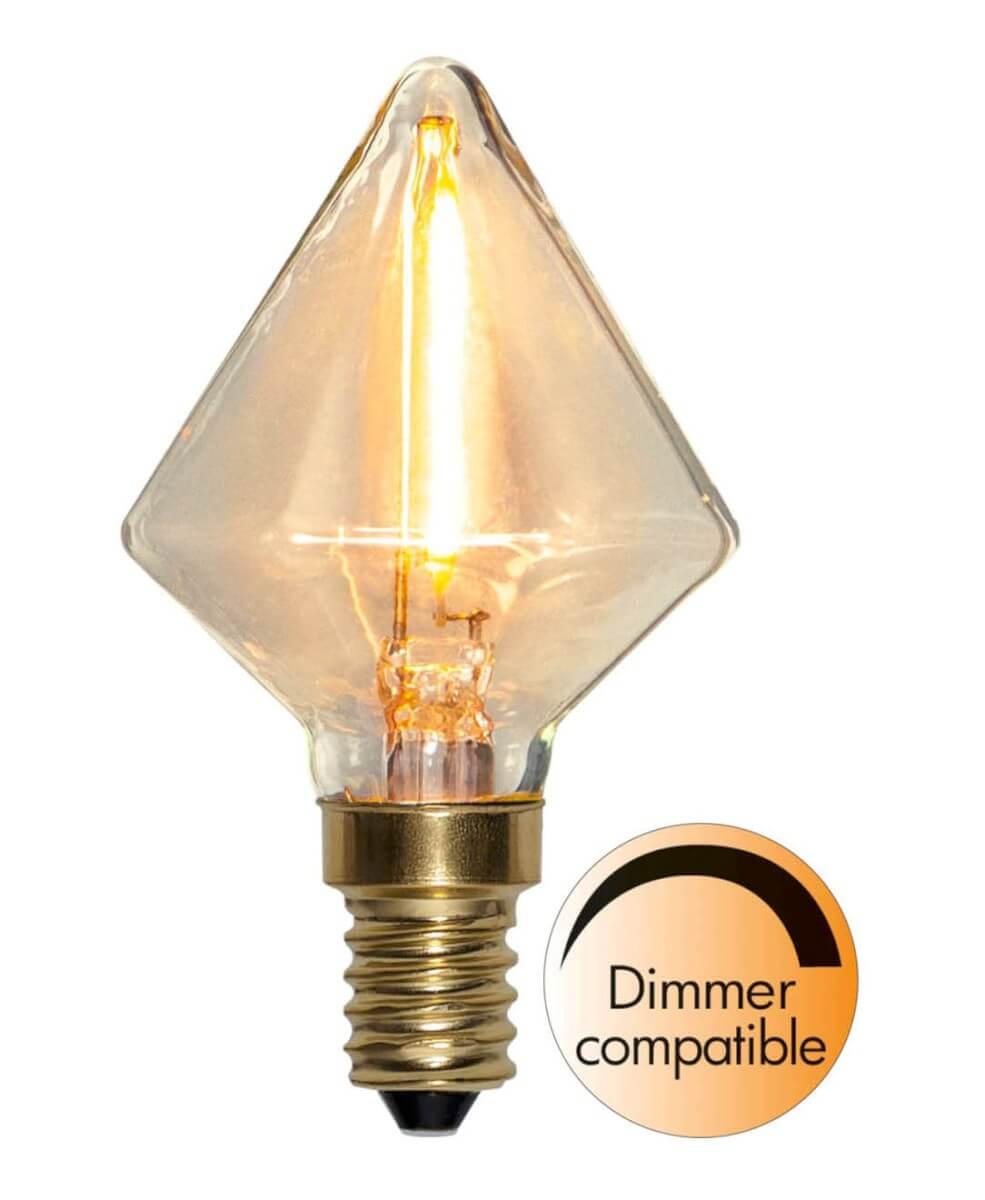 Nykomna E14 SoftGlow Dimbar 0.8W 2200K 45lm LED-Lampa - Star Trading AB UU-97