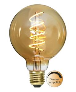 E27 Flexifilament Glob95 3W 2000K 130lm LED-Lampa