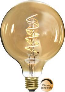 E27 Dekoration Amber Glob125 3W 2000k 140lm LED-Lampa