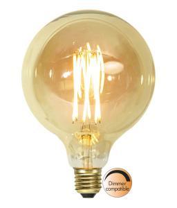 E27 Vintage Gold Glob125 3.7W 1800K 240lm LED-Lampa