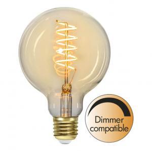 E27 Flexifilament Glob95 3W 2200K 160lm LED-Lampa