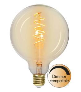 E27 Flexifilament Glob125 3W 2200K 160lm LED-Lampa