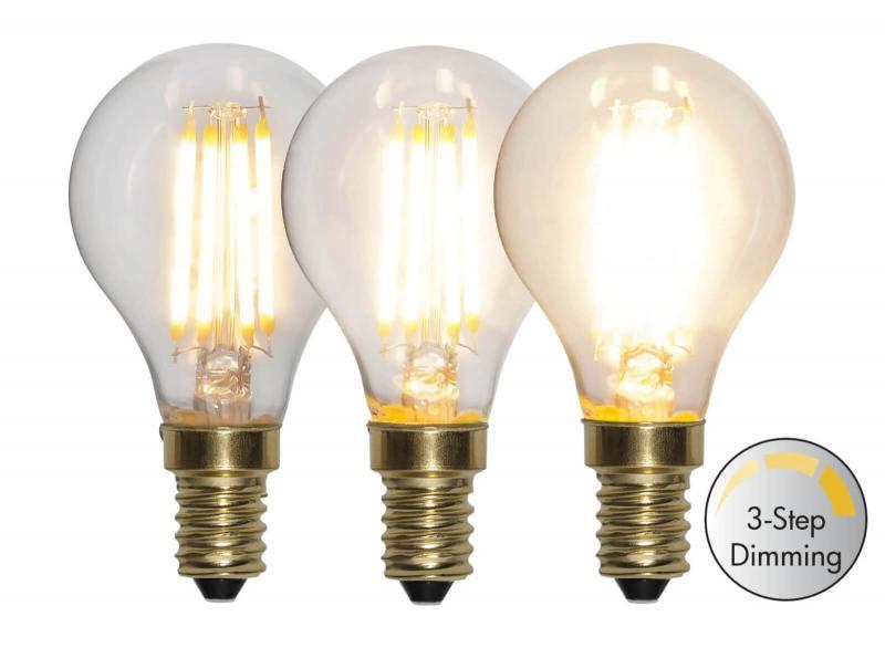 E14 Klot 3-stegs Dimmfunktion 4W 2100k 400lm LED-lampa