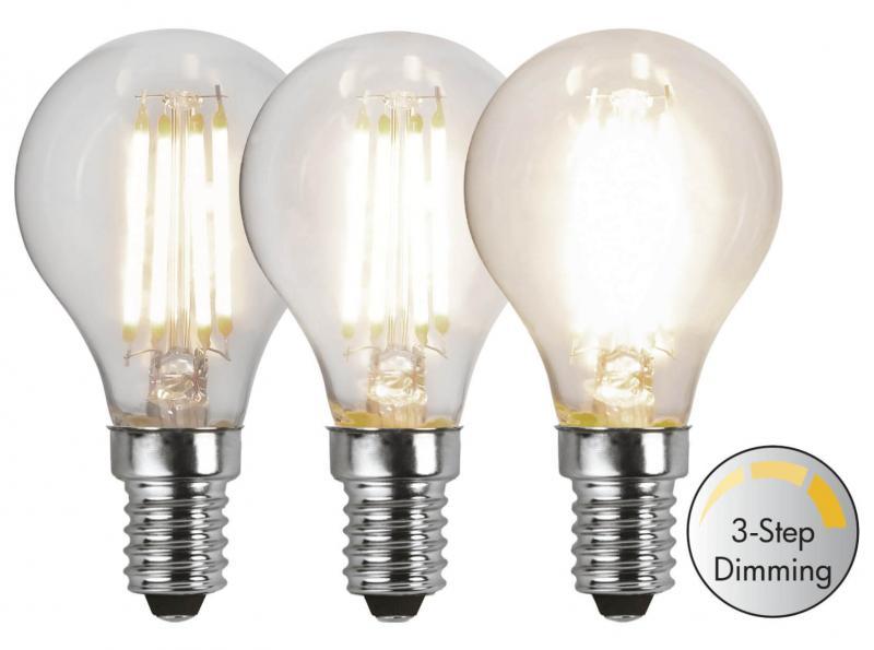 E14 Klot 3-Stegs Dimbar 4.2W 3000K 470lm LED-Lampa