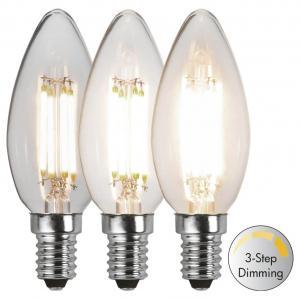 E14 Kronljus 3-Stegs Dimbar 4.2W 3000K 470lm LED-Lampa
